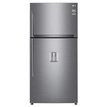 Хладилник с фризер LG GTF916PZPYD, клас Е, 592 л. общ обем, свободностоящ, 330 kWh/годишно, No Frost, WiFi, диспенсър за вода, DoorCooling+, сребрист image