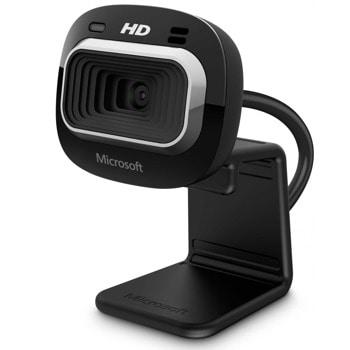 Уеб камера Microsoft LifeCam HD-3000 for Business, 720p, USB, черна, технология TrueColor image