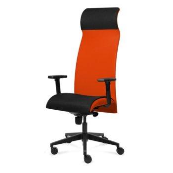 Президентски стол Tronhill Solium Executive (ON4010200071), дамаска и меш, 120 кг. максимално натоварване, 5 заключващи се работни позиции, оранжев image
