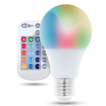 LED крушка Forever RTV003564, E27, A60, 9W, 720 lm, 3000K, RGB, дистанционно image