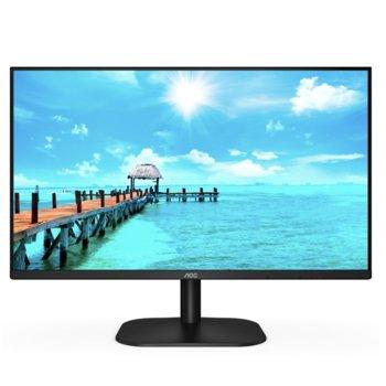 """Монитор AOC 24B2XH/EU, 23.8"""" (60.45 cm)IPS панел, 75 Hz, Full HD, 7 ms, 20000000 :1, 250 cd/m2, HDMI, VGA image"""