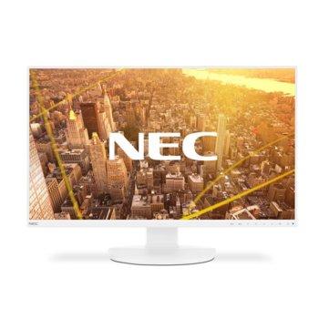 """Монитор NEC EA271F White, 27"""" (68.58 cm) IPS панел, Full HD, 6ms, 5000:1, 250 cd/m2, DisplayPort, HDMI, DVI-D, VGA image"""