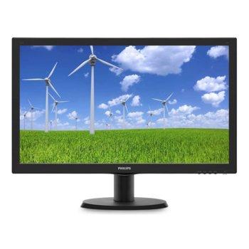"""Монитор Philips 243S5LDAB, 24""""(60.96 cm) TFT-LCD панел, Full HD, 1ms, 10000000:1, 250 cd/m2, HDMI, DVI-D, VGA  image"""
