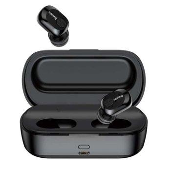 Слушалки Baseus Encok W01 TWS, безжични (Bluetooth 5.0), микрофон, 6 часа време за работа, черни image