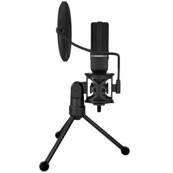 Микрофон Marvo Mic-03, USB, стриймърски, черен image