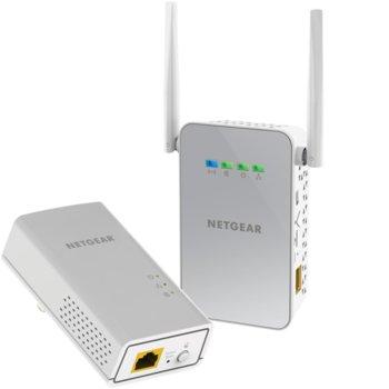 Powerline адаптер Netgear PLW1000 + WiFi AC650, 1000 Mbps, 1x 10/100/1000 Gigabit Ethernet, 2 устройства image