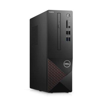 Настолен компютър Dell Vostro 3681 SFF (N509VD3681EMEA03A_2101_KBM), шестядрен Comet Lake Intel Core i5-10400 2.9/4.3 GHz, 8GB DDR4, 512GB SSD, 4x USB 3.2, клавиатура и мишка, Linux image
