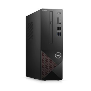 Настолен компютър Dell Vostro 3681 SFF (N509VD3681EMEA03A_2101_KBM), шестядрен Comet Lake Intel Core i5-10400 2.9/4.3 GHz, 8GB DDR4, 512GB SSD, 4x USB 3.2, клавиатура и мишка, Linux image