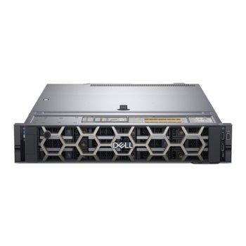 Сървър Dell PowerEdge R540 (#DELL02574), шестядрен Cascade Lake Intel Xeon Bronze 3204 1.9 GHz, 16GB DDR4 RDIMM, 480GB SSD, 2x 1GbE LOM, 2x USB 3.0, без ОС, 750W PSU image