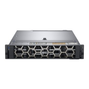 Сървър Dell PowerEdge R540 (#DELL02574), шестядрен Cascade Lake Intel Xeon Bronze 3204 1.9 GHz, 16GB DDR4 RDIMM, 480GB SSD, 2x 1GbE LOM, 2x USB 3.0, без ОС, 750W PSU image