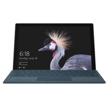 "Таблет Microsoft Surface Pro 5 (FJX-00003)(сребрист), 12.3"" (31.24cm) PixelSense дисплей, двуядрен Intel Core i5-7300U 2.60/3.50 GHz, 8GB RAM, 256GB SSD (+ microSD слот), 8.0 MPix & 5.0 MPix камера, Windows 10, 770 g image"