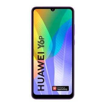 "Смартфон Huawei Y6p (лилав), поддържа 2 SIM карти, 6.3"" (16.00 cm) HD+ IPS дисплей, осемядрен Mediatek MT6762R 2.0 GHz, 3GB RAM, 64GB Flash памет (+ microSD слот), 13.0 & 5.0 & 2.0 MPix камера, EMUI 10.1 image"