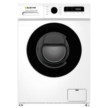 Пералня Electra EWMD-7123BL/ED, клас A+++, 7 кг. капацитет на пералня, 1200 оборота, 12 програми, свободностояща, 60 cm ширина, защита от деца, бяла image