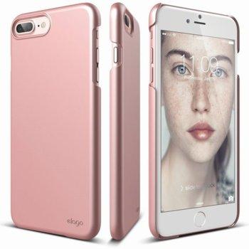 Калъф Apple iPhone 7 Plus, страничен протектор с гръб, поликарбонат, Elago S7 Slim Fit 2, розово-злато image