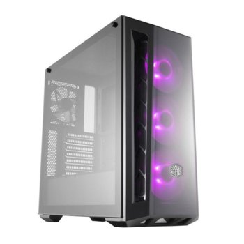 Кутия Cooler Master MasterBox MB520 RGB, ATX/Micro-ATX/Mini-ITX, 2x USB 3.0, порзорец, черна, без захранване image