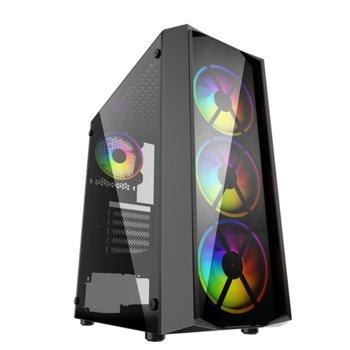 PowerCase JX188-17, ATX/Micro ATX/Mini ITX, 1x USB 3.0, черна без захранване image