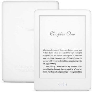 "Електронна книга Amazon Kindle 2019 10th Generation white, 6"" (15.24 cm) 167ppi Anti-glare дисплей, 8GB Flash памет, до 4 седмици работа, Wi-Fi, Bluetooth, бяла image"