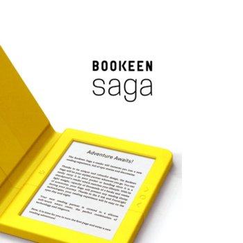 "Електронна книга Bookeen SAGA, 6""(15.24 cm) E-Ink Carta мултитъч дисплей, Wi-Fi, Cortex A8 1GHz процесор, 8GB Flash памет, micro USB 2.0, microSD слот, вграден жироскоп, жълта image"