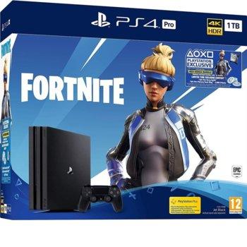 Конзола Sony PlayStation 4 Pro 1TB Fortnite Neo Bundle, черна image