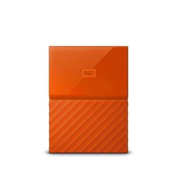 """Твърд диск 3TB Western Digital MyPassport Orange, външен, 2.5"""" (6.35 cm), USB 3.0 image"""