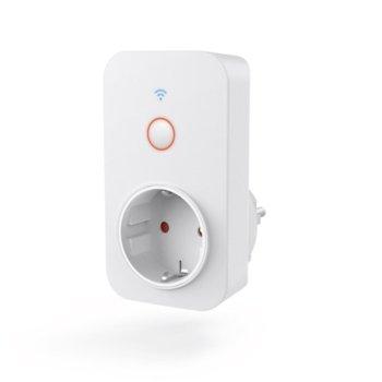 Смарт контакт Hama 176565, Wi-Fi, Android/iOS, външен (IP20), защита от деца, бял image