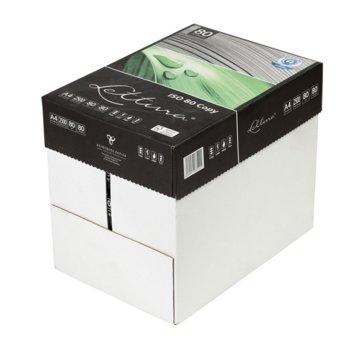 Копирна хартия Lettura 80, 100% рециклирана, A4, 80 g/m2, 500 листа, 5 пакета image