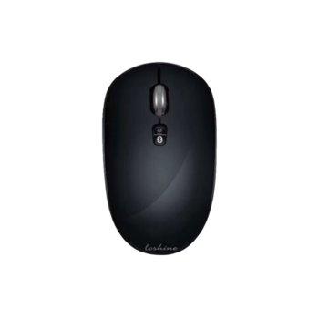 Мишка Loshine X60, безжична, оптична(1600 dpi), Bluetooth/USB, черна image