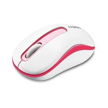 Мишка Rapoo M10 Plus, оптична (1000 dpi), безжична, 2.4GHz, USB, бяло/червена image