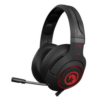 Слушалки Marvo HG9032, микрофон, червена подсветка, гейминг, USB, черни image