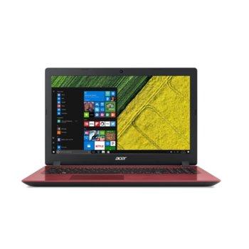 "Лаптоп Acer Aspire 3 A315-32-P7E4 (NX.GW5EX.001)(червен), четириядрен Gemini Lake Intel Pentium N5000 1.1/2.7 GHz, 15.6"" (39.62 cm) Full HD Anti-Glare Display, (HDMI), 4GB DDR4, 1TB HDD, 1x USB 3.0, Linux image"