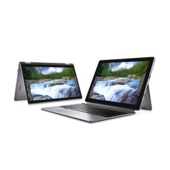 """Хибриден лаптоп Dell Latitude 7210 2in1 (N003L7210122IN1EMEA)(сребрист), четириядрен Comet Lake Intel Core i5-10210U 1.6/4.2 GHz, 12.3"""" (31.24 cm) Full HD Touchscreen Anti-Glare Display, (Thunderbolt 3), 8GB, 256GB SSD, Windows 10 Pro image"""