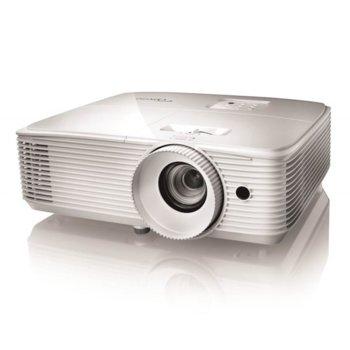 Проектор Optoma EH334, DLP, 3D, Full HD (1920x1080), 20 000:1, 3600 lm, HDMI, VGA, USB, бял image