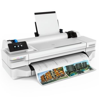 Плотер HP DesignJet T125 24-in, 1200 x 1200 dpi, 256MB памет, USB, A4 image