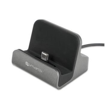 Докинг станция 4smarts USB-C Charging Station VoltDock 10W, Input: DC 5V/2000 mA (max.), Output: DC 5V/2000 mA (max.), USB image