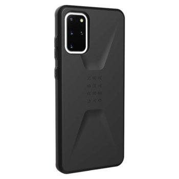 Калъф за Samsung Galaxy S20 Plus, хибриден, Urban Armor Civilian 21198D114040, удароустойчив, черен image