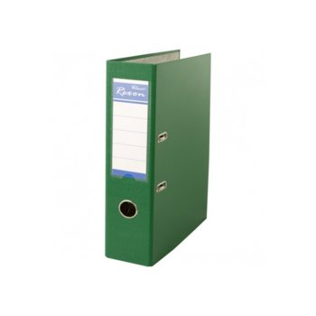 Класьор Rexon, за документи с формат до A4, дебелина 8см, зелен image