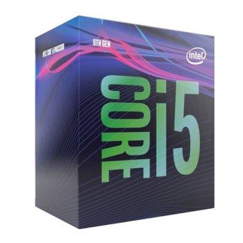 Процесор Intel Core i5-9500F, шестядрен (3/4.4GHz, 9MB Cache, w/o GPU, LGA1151) BOX, с охлаждане image