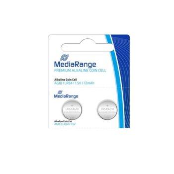 Батерии алкални MediaRange Premium Coin Cells MRBAT112 AG10 (LR54), 1.5V, 72mAh, 1бр. image