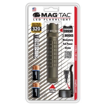 Фенер MAGTAC LED Crowned Bezel, 2x батерии CR123, 320lm, водоустойчивост, блистер, зелен image