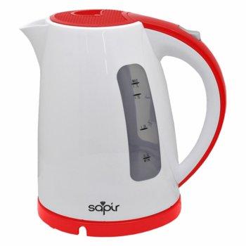 Електрическа кана Sapir SP 1230 F, 1.7 л. обем, 360 градуса, 2200W, бял/червен image