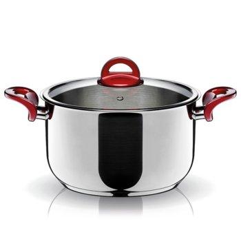 Тенджера Pyramis Essentio 014006501, 3.5 литра, 22 cm диаметър, стомана, тройна топлоакумулираща основа, 3 нива на готвене, с капак image