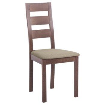 Трапезен стол Carmen PABLO, орех/лате image