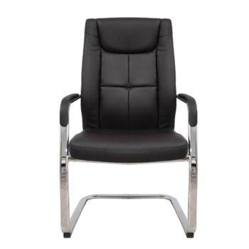 Посетителски стол RFG BOGART M, екокожа, черен, 2 броя в комплкет image