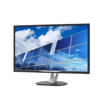 """Монитор Philips 328B6QJEB, 32"""" (81.28 cm) IPS панел, WQHD, 5 ms, 50 000 000:1, 250 cd/m2, DisplayPort, HDMI, VGA, DVI, USB image"""