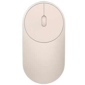 Мишка Xiaomi Mi Portable Mouse, лазерна 1200dpi, безжична, Bluetooth , USB, златиста image