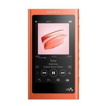 """MP3 плейър Sony NW-A55L, 16GB, 3.1"""" (7.8 cm) WVGA дисплей, червен image"""