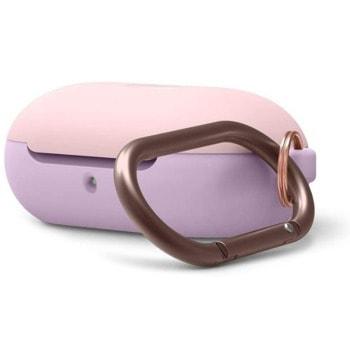 Защитен калъф Elago Silicone Hang Case за Samsung Galaxy Buds / Buds Plus, лилав/розов image
