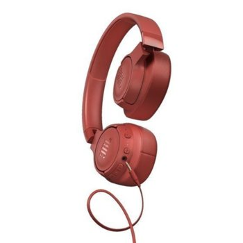Слушалки JBL T750BT NC, безжични, Bluetooth, до 15 дни работа, червени image