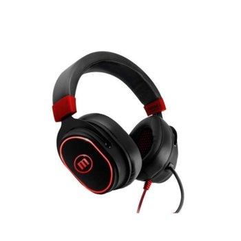 Слушалки MAXELL Samurai CA-H-MIC-1200, микрофон, вибрация, подсветка, USB, черни image