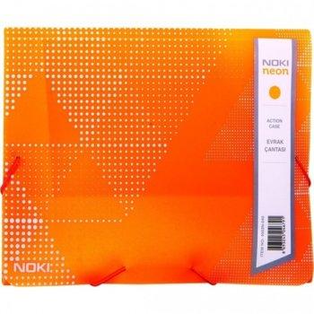 Папка PVC, с ластик, Noki, neon оранжев image